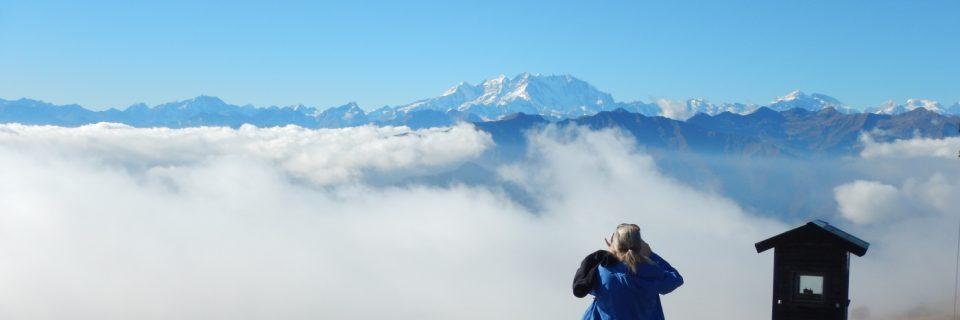 Blick von Mottarone auf das Monte Rosa Massiv