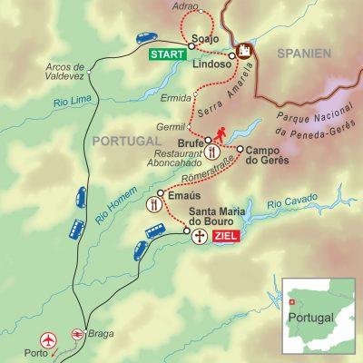 Wegskizze Wanderung Portugal 7Ü