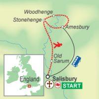Wegskizze einer individuellen Wanderung in England